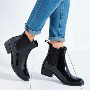 Sam Edelman Black Tinsley Pull On Short Rainboots